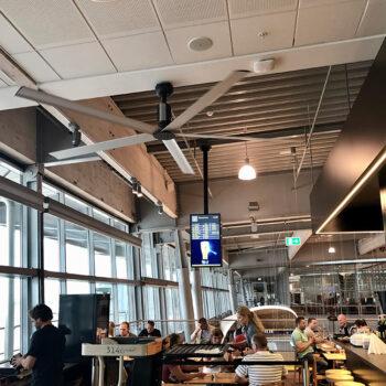 Billund Airport HVLS fan Ceiling fan - loftventilator - loft ventilator - decken ventilatoren - from NORDICCO