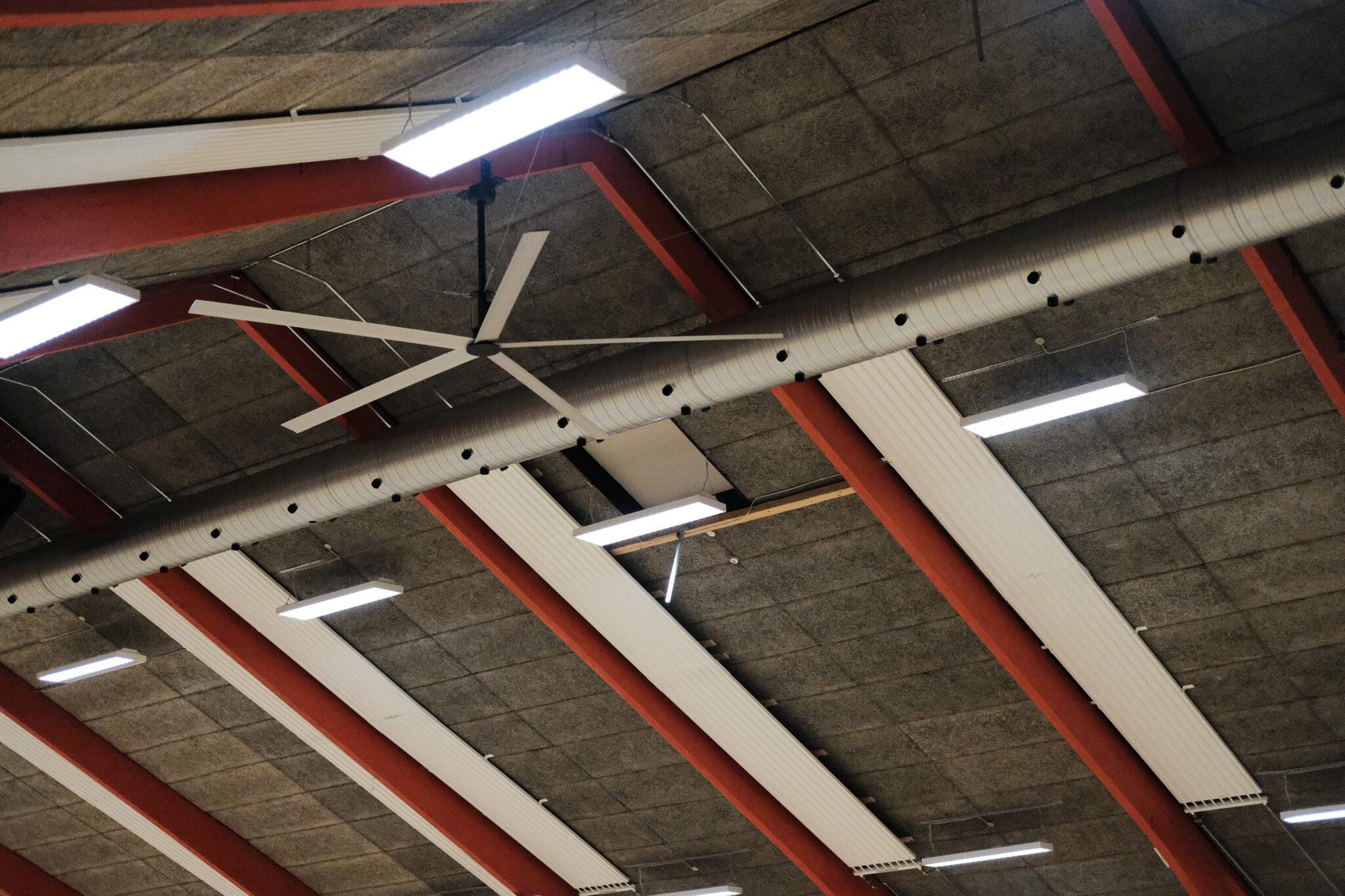 Nordicco HVLS loftventilator Grindsted Hallen