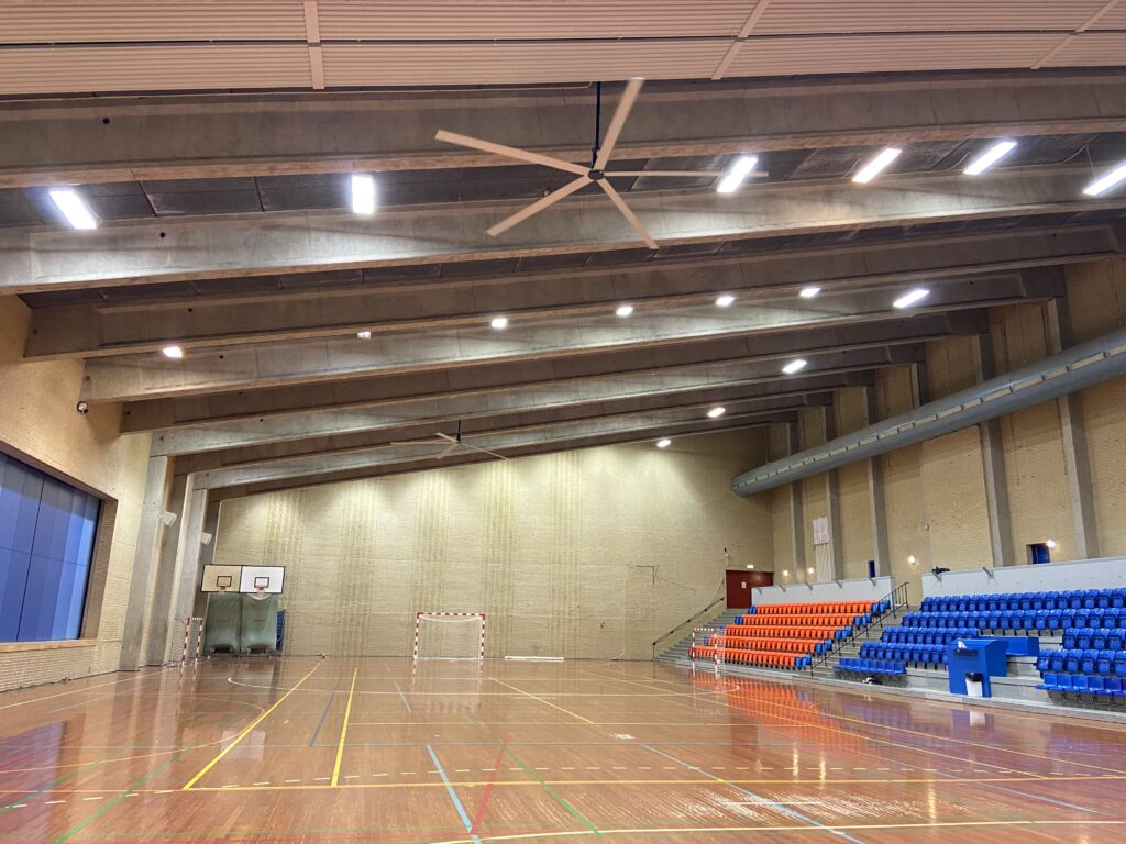Høng Hallen HVLS loftventilator - loft ventilator - decken ventilatoren - from NORDICCO