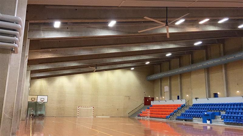 Høng Hallen Ceiling fan - loftventilator - loft ventilator - decken ventilatoren - from NORDICCO