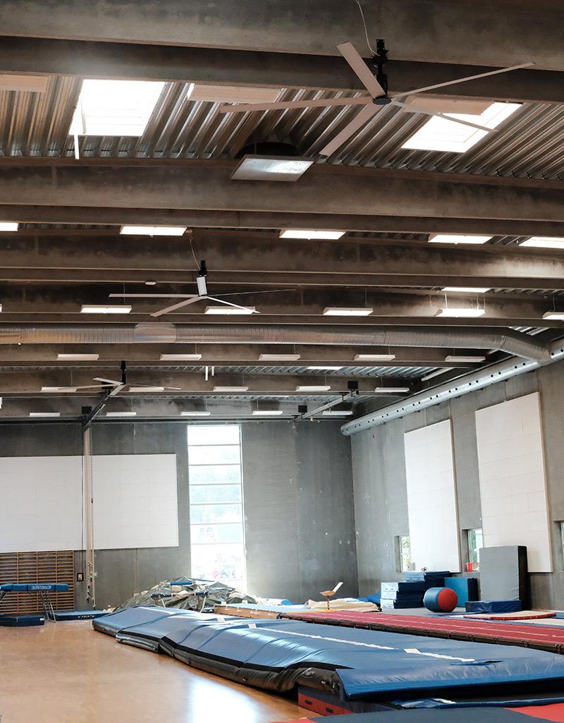 Odense Idrætspark Ceiling fan - loftventilator - loft ventilator - decken ventilatoren - from NORDICCO