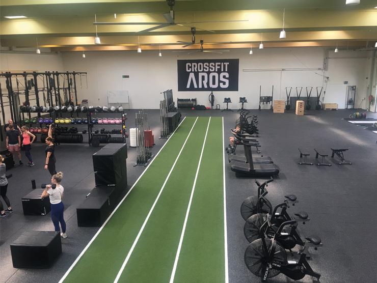 CrossFit Aros tre HVLS ventilatorer