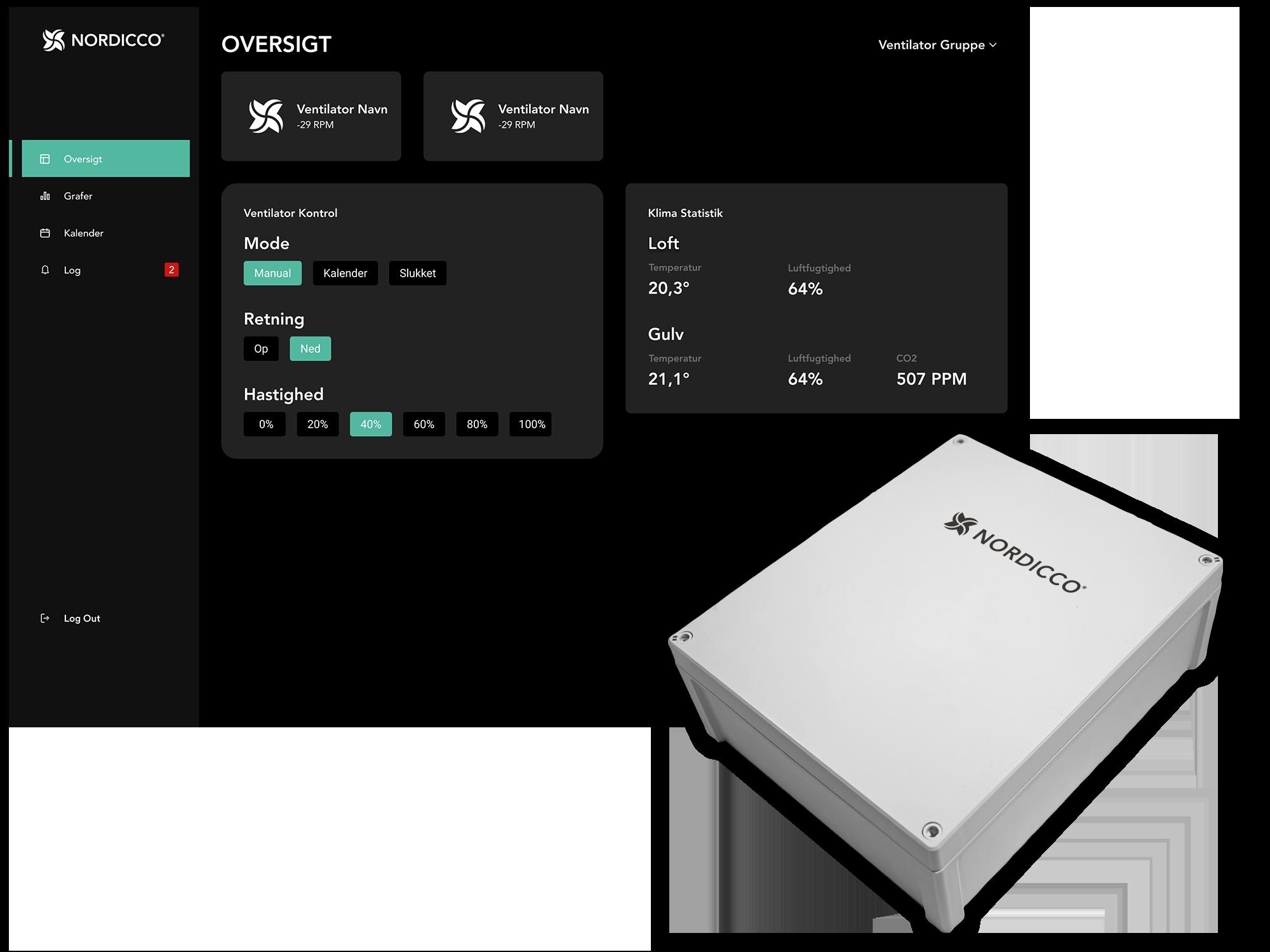 Nordicco Fan Management System overväkning och FMS box