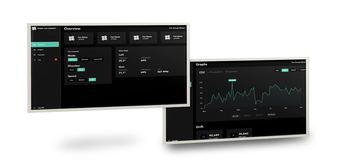 Nordicco Fan Management System control & monitor your indoor climate