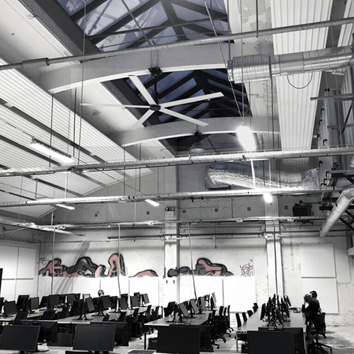 Nordicco HVLS Fans Gamerroom Campus Vejle Offices & Smaller Spaces