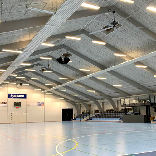 Nordicco HVLS Fläkt Hedensted Centret