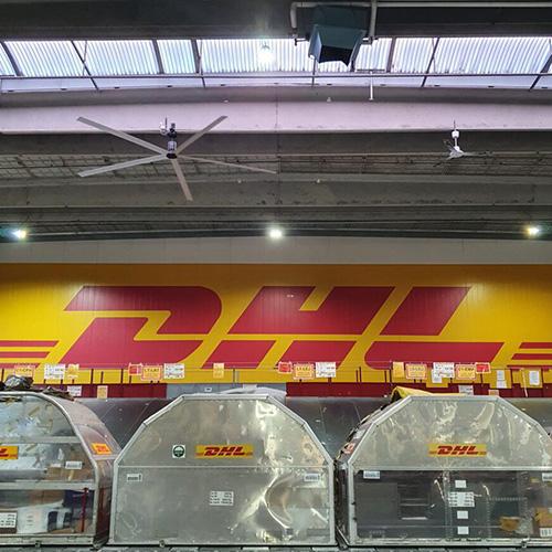 Nordicco HVLS Ventilatorer DHL Produktion & distribution