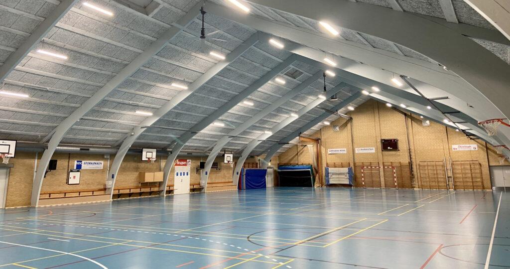 HVLS Deckenventilatorer aus Bjergby hallen anwendungen