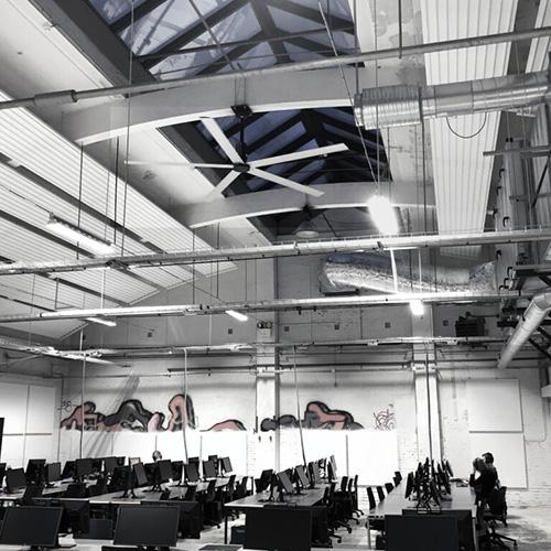 Nordicco HVLS Ventilator Gamerroom Campus Vejle