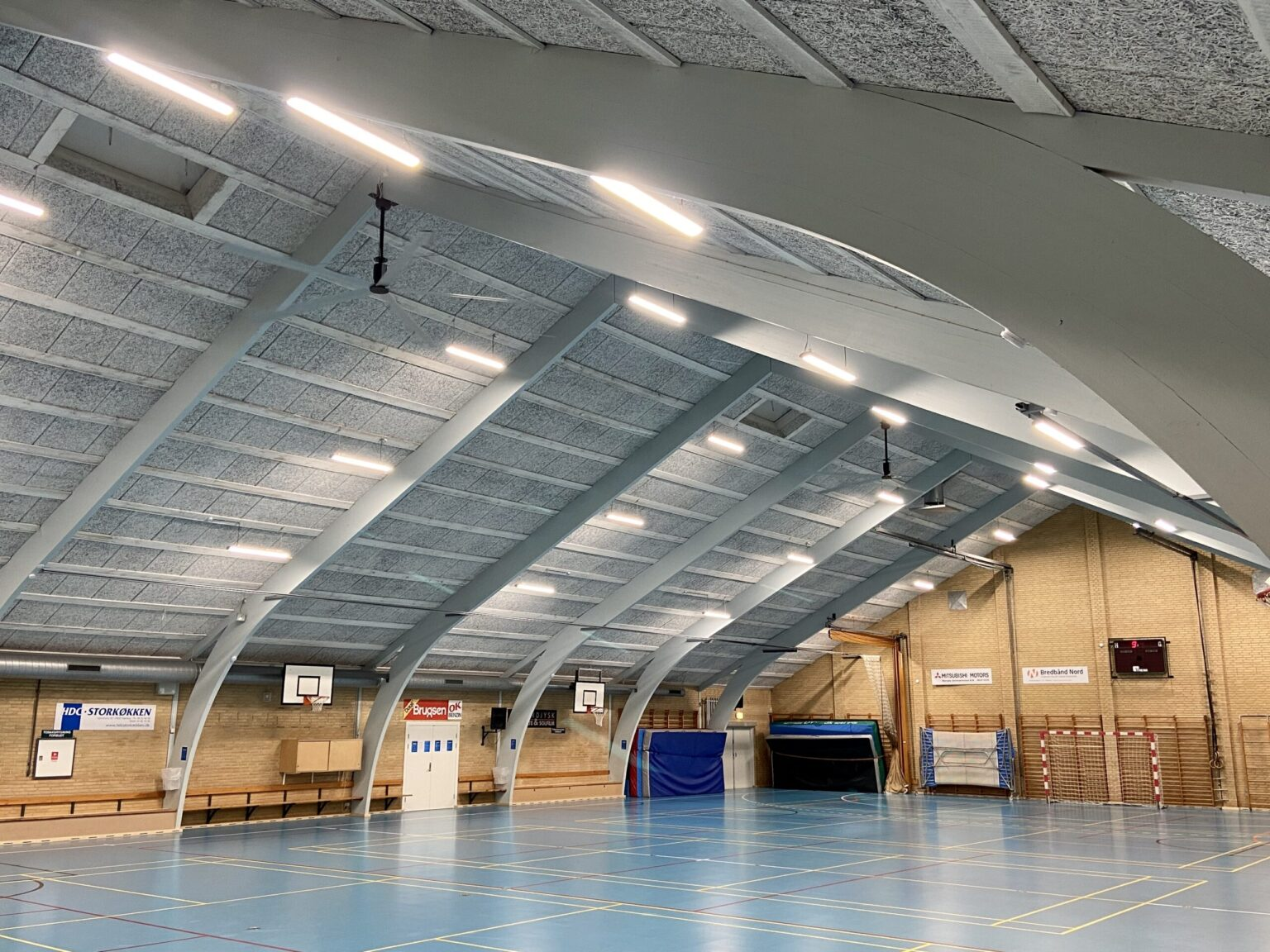 Nordicco HVLS ventilator Bjergby Hallen