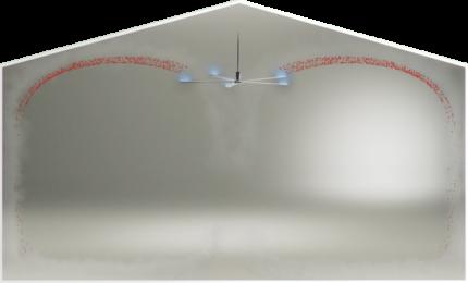 UVC-Desinfektion Northern LightTM Deckenventilator