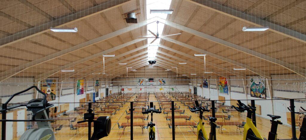 Gørlev Idrætsefterskole Northern Light HVLS-ventilatorer desinficerer luften i idrætshallen