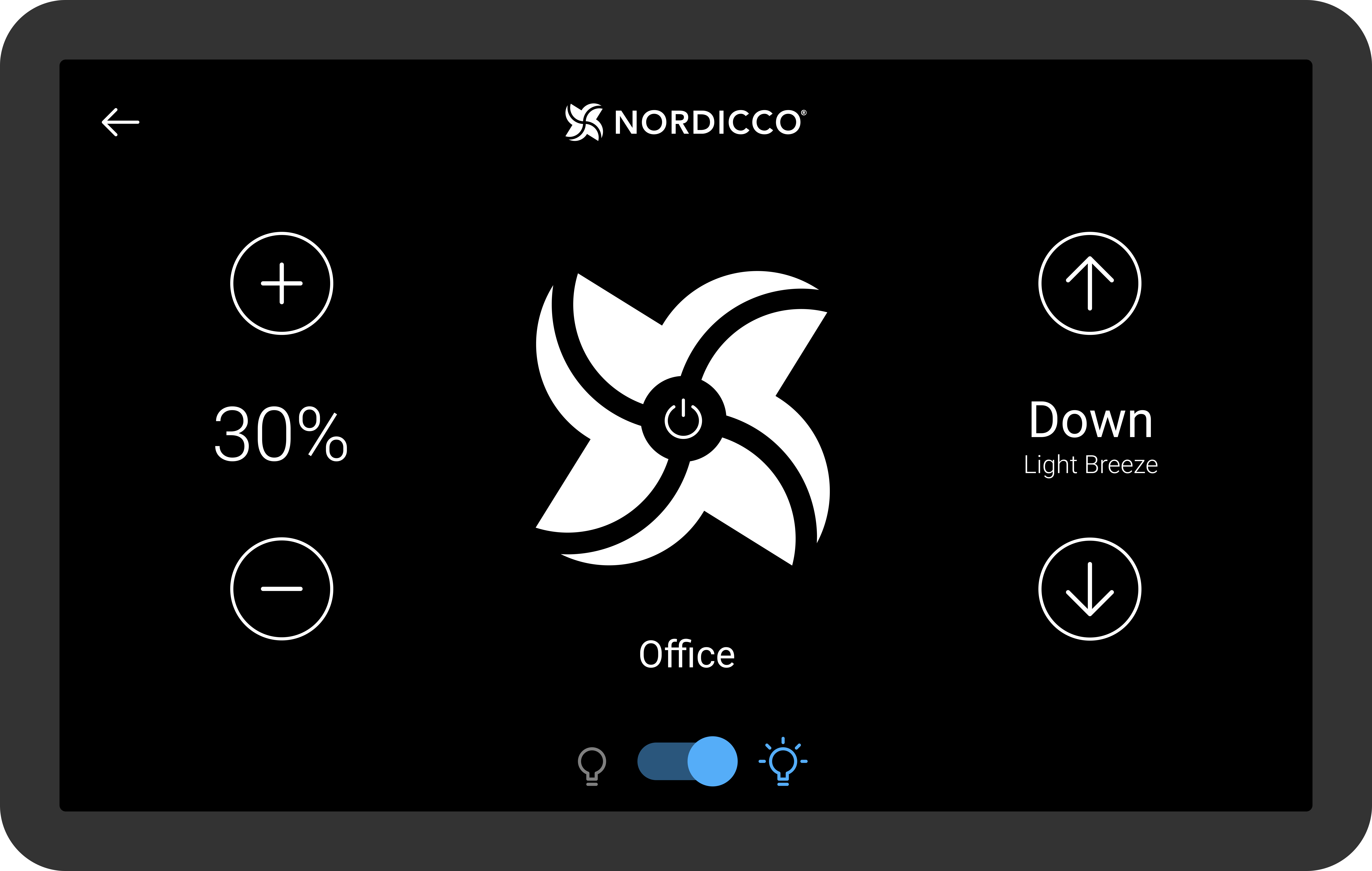 Nordicco Wireless Tablet App control and monitor HVLS fan